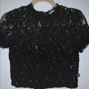 Crop top black Zara